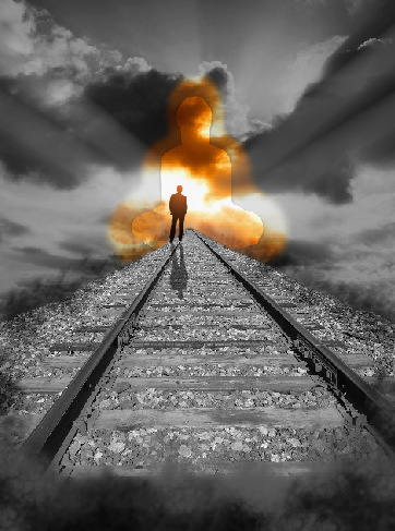 digital art photo - walking towards heaven