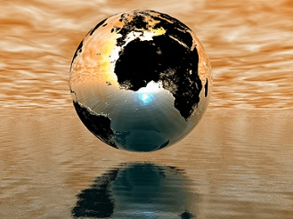 globe of golden light