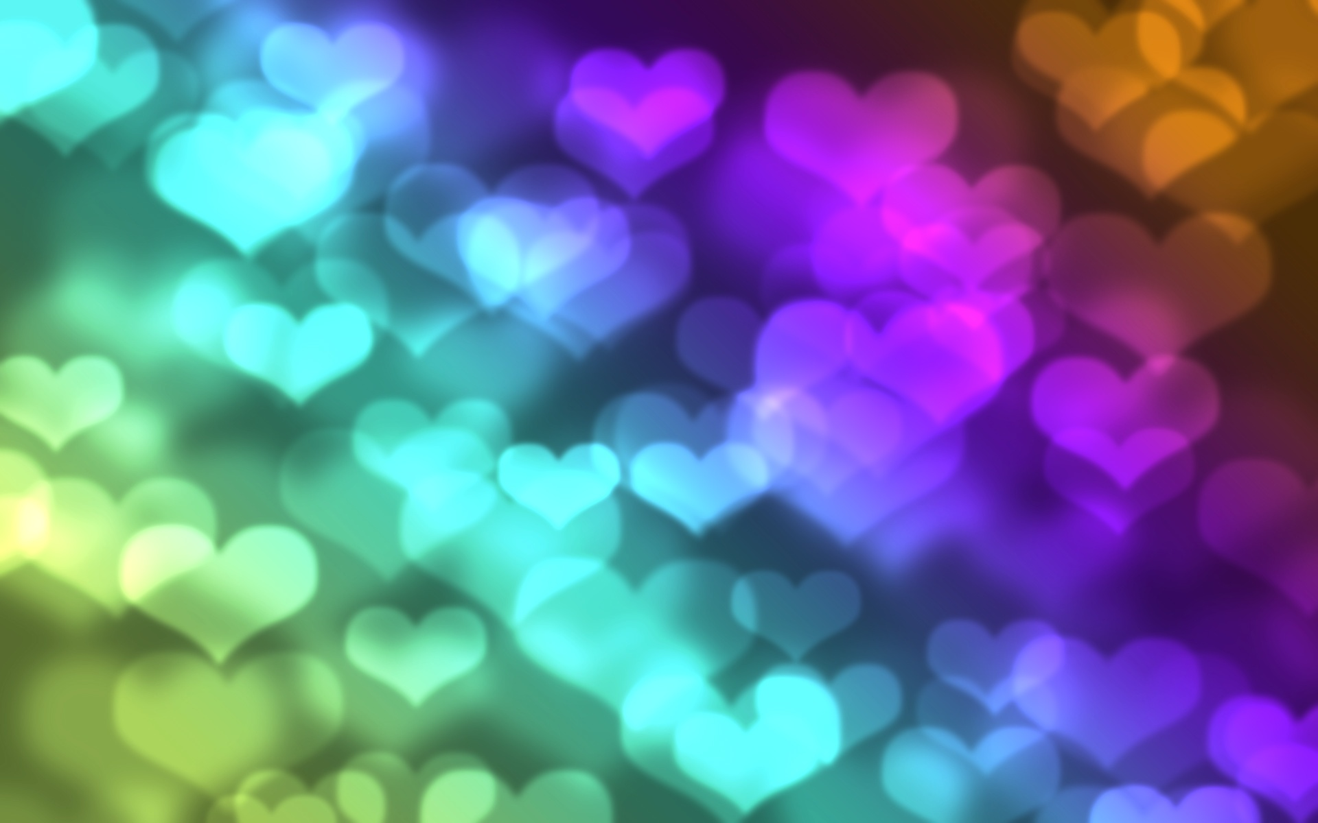 heart shapes multicolored background