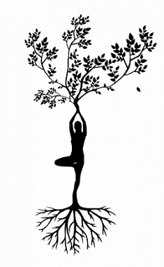 standing tree yoga meditation posture